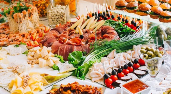 gorgeous catered spread